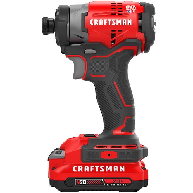 """Brushless cordless 1/4"""" Impact Driver Kit - 20 V - 2 Ah"""