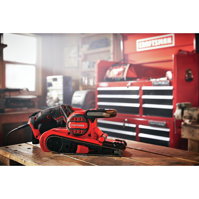 "Corded Belt Sander - 21"" x 3"" - 7 A - 800 ft/min"