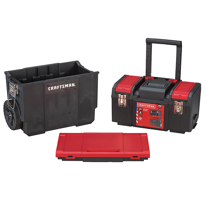 3 in 1 Rolling Mobile Workshop - Black and Red