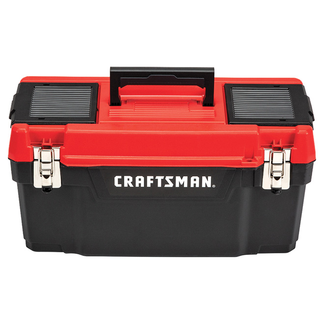 """Plastic Tool Box - 16"""" - Red and Black"""