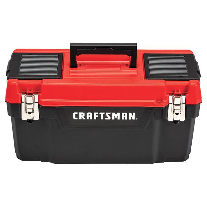 """Coffre à outils en plastique, 16"""", rouge et noir"""