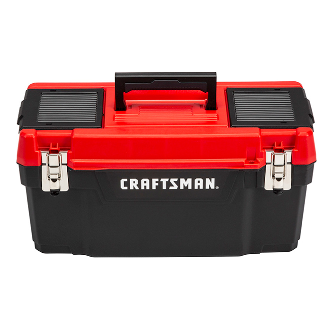 """Plastic Tool Box - 20"""" - Red and Black"""