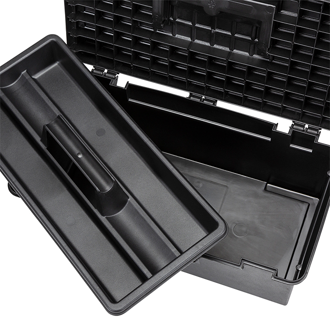 "Classic Tool Box - 16"" - Black and Red"