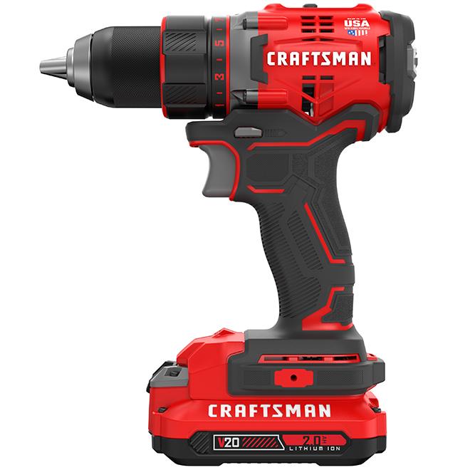 Cordless Drill / Driver Kit - 20 V Lithium-Ion - Brushless