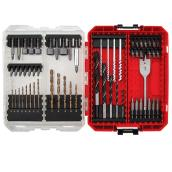 Drive and Drill Bit Set - Red and Black - 60 Pieces