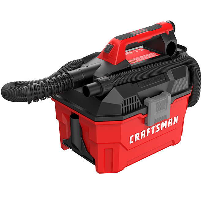 20V MAX Cordless Wet and Dry Vacuum - 7.5L - Red/Black