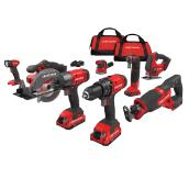 Set of 8 Cordless Tools - 20 V Lithium-Ion