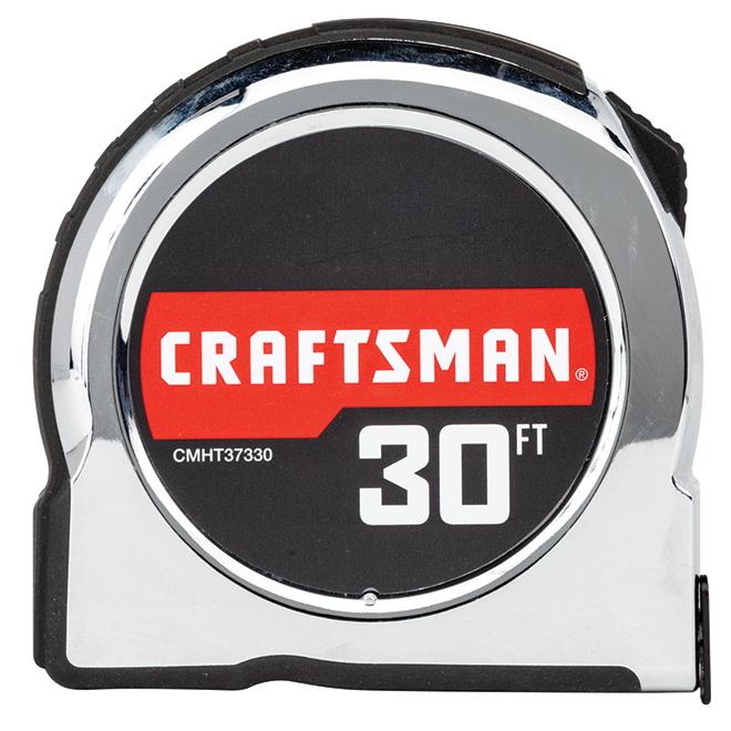 Classic Tape Measure - 1'' x 30'- Chrome