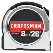 Classic Tape Measure - 1'' x 26' - Chrome