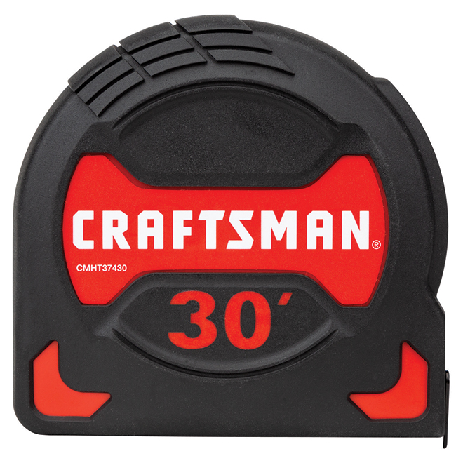 PRO-10 Measuring Tape - 1.25'' x 30' - Black and Red
