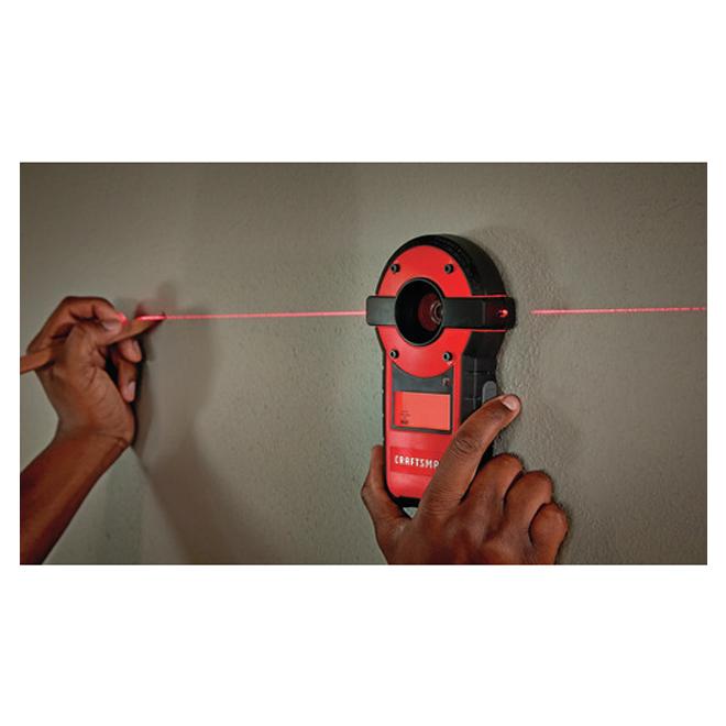 Niveau laser et détecteur de montant, 20', rouge et noir