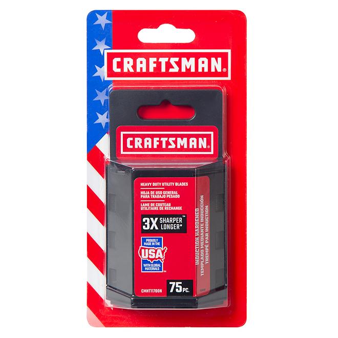 Lame utilitaire de rechange Craftsman, robuste, acier trempé, 75/paquet