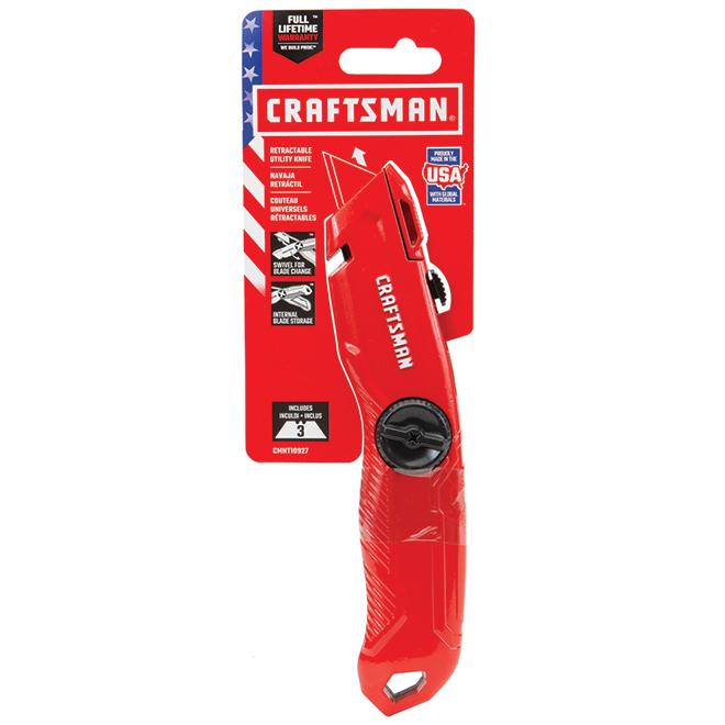 Couteau utilitaire à lame rétractable, coupe-fil