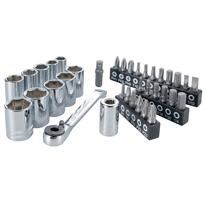 Ratchet driver with Bits - 35 Pieces