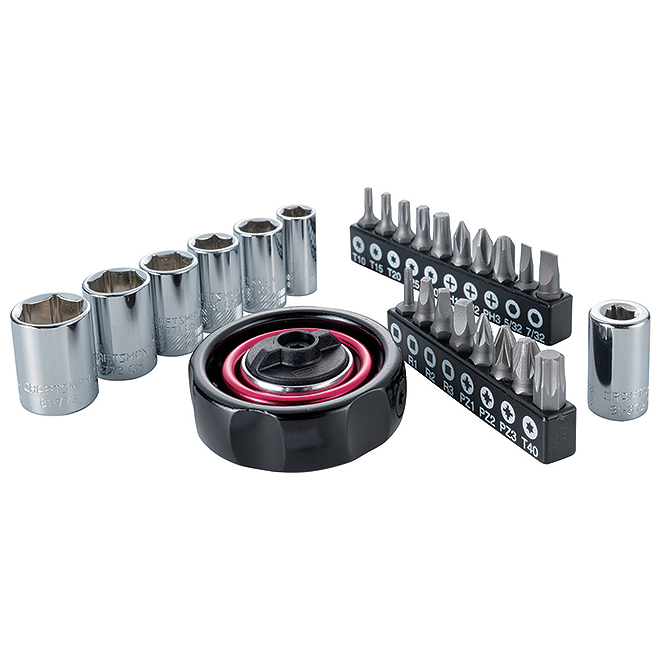 Ratchet Adapter with Accessories - 26 Pieces