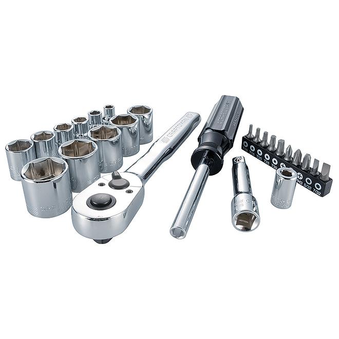 """Ensemble d'outils nano SAE en acier, 3/8"""", 24 pièces"""