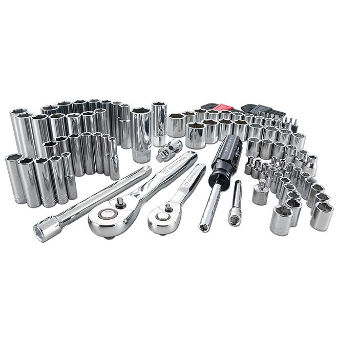 "Mechanic Tool Set - 1/4""and 3/8"" - 105 Pieces"