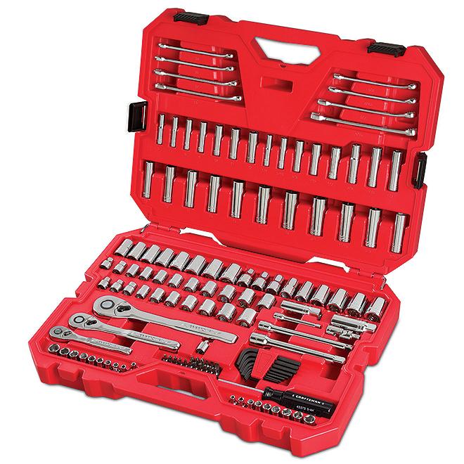 Ensemble d'outils pour mécanicien, 3 prises, 135 pièces