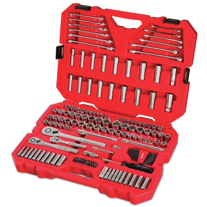 Ensemble d'outils pour mécanicien, 3 prises, 159 pièces