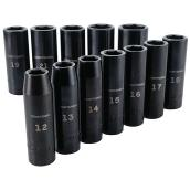 "Impact Socket Set - 1/2"" - Metric - 12 Pieces"