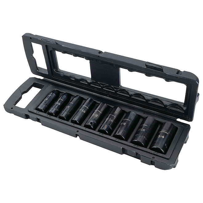 "Impact Socket Set - 3/8"" - SAE - 9 Pieces"