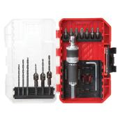 Modular Drill and Drive Bit Set - Red and Black- 15/Pack