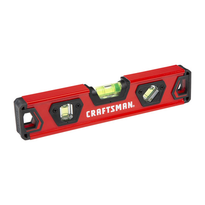 "Torpedo Level - Box Beam Style - 9"" - Red and Black"