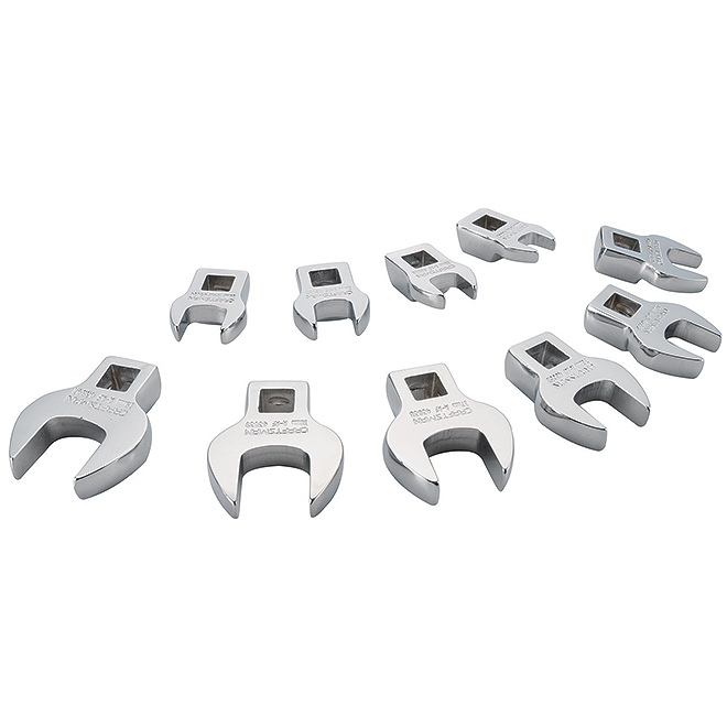 """Crowfoot Wrench Set SAE - 3/8"""" - 10 pieces"""