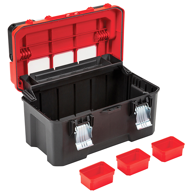 """Toolbox with Windows - Portable - 20"""" - Plastic and Metal"""