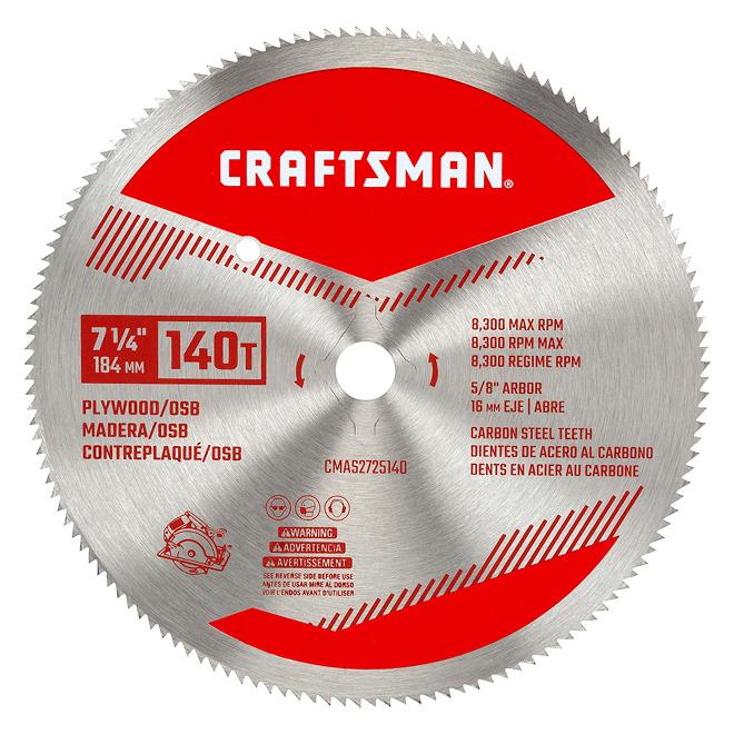 "Circular Saw Blade for Plywood - 7 1/4"" - 140 TH"