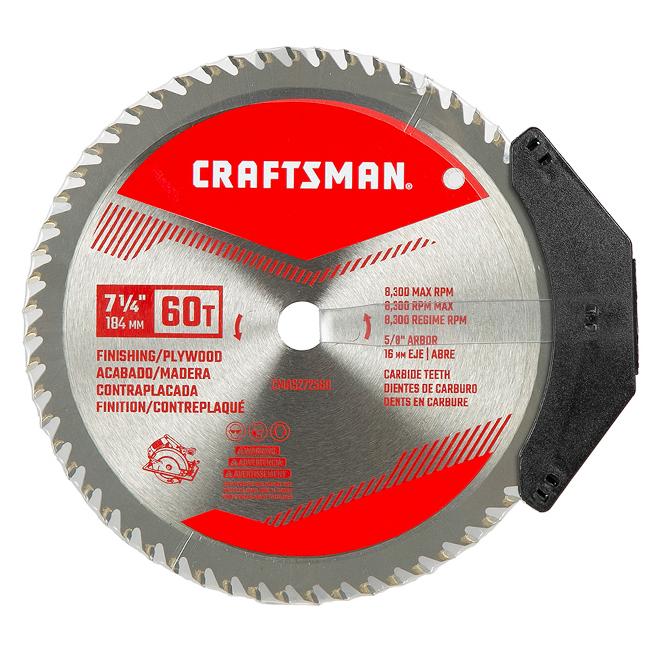 Craftsman Circular Saw Blade - Carbide - 60 Teeth - Fine Crosscuts - 7 1/4-in dia - 1 Per Pack