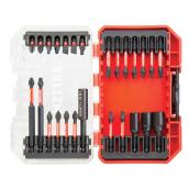Set of 26 Impact Driver Bits - Red and Black