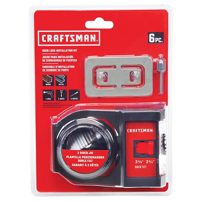 Door Lock Installation Kit - Bi-Metal - 6/Pack
