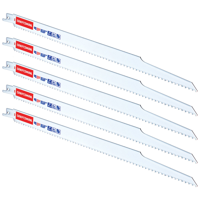 "Reciprocating Saw Blade - Bi-Metal - 15"" x 6 TPI - 5/PK"