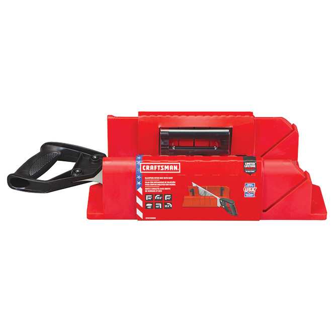 "Mitre Box with Saw - 12"" - Red and Black"