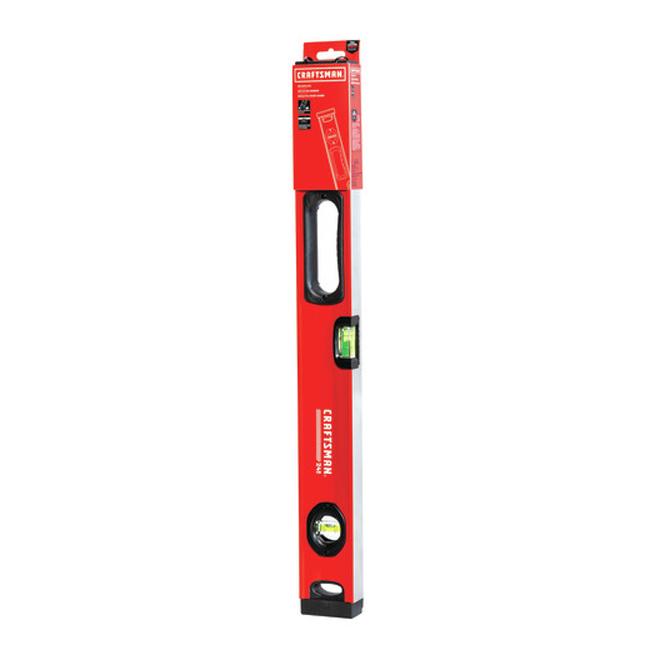 "Box Beam Level - 24"" - 1 Handle - Red and Black"