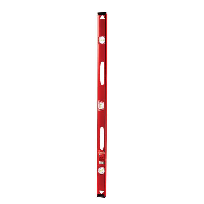"""I-Beam Level - 48"""" - 360° Vials - Aluminum - Red and Black"""