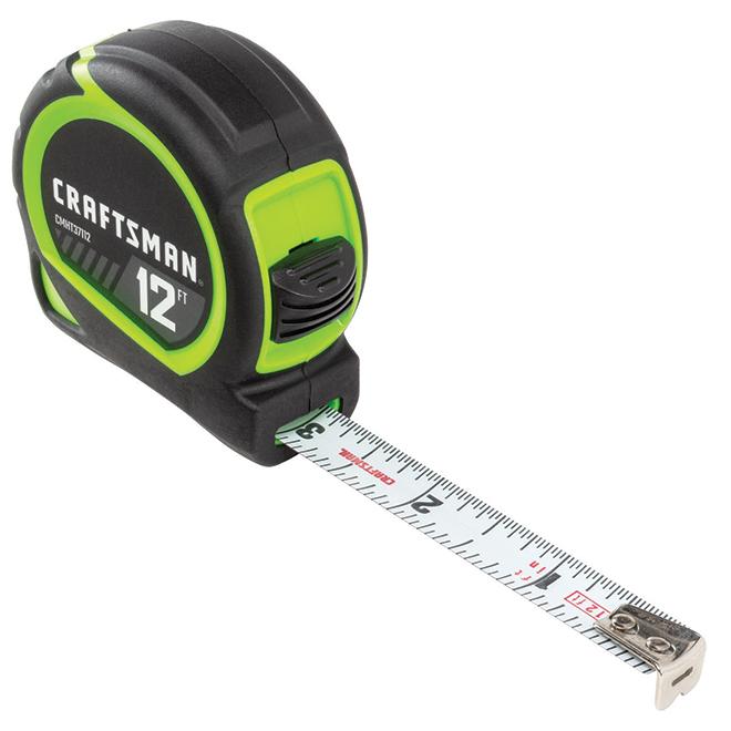 Ruban à mesurer, haute visibilité, 12'