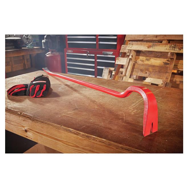 "Spring Steel Pry Bar - 42"" - Steel - Red"