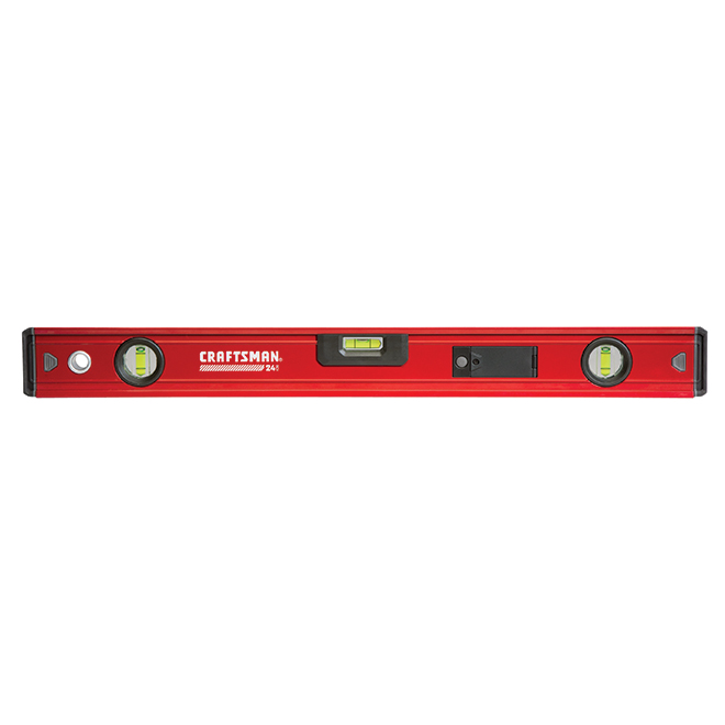 "Box Beam Level - 24"" - Magnetic - Red and Black"