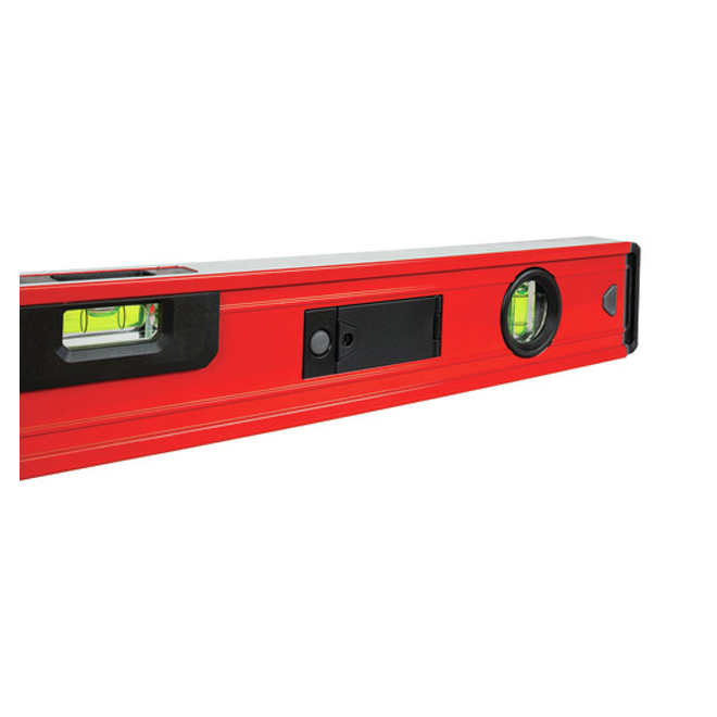 """Box Beam Level - 24"""" - Magnetic - Red and Black"""