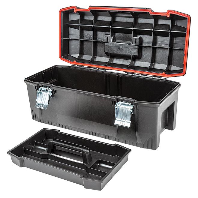 "CRAFTSMAN Heavy-Duty Tool Box - 28"" - Black CMST28001 | RONA"