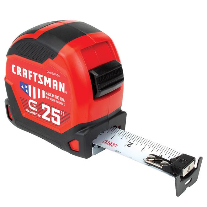 Ruban à mesurer magnétique, PRO-11, 1,25'' x 25', rouge