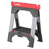 Adjustable Sawhorse - Telescopic - Metal/Plastic - 27