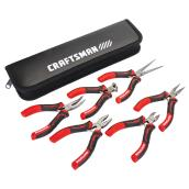 Pliers Set - Mini - Steel - Red and Black - 6/Pk