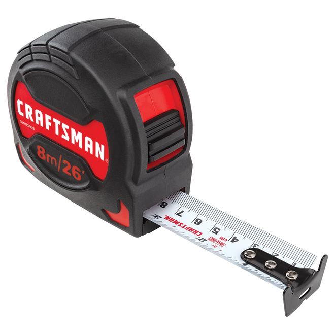 PRO-10 Measuring Tape - 1.25'' x 26' - Black and Red