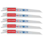 "Bi-Metal Reciprocating Saw Blades - 6"" x 6 TPI - 5PK"