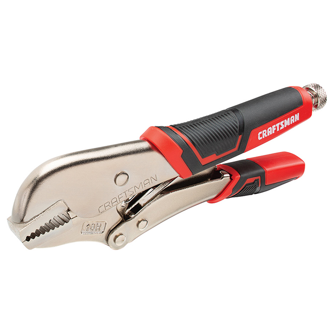 Locking Pliers - Straight Jaw - 10'' x 10R - Red/Black