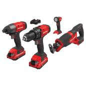 4 Cordless V20 Tools Kit - 2 Batteries - 1 Charger