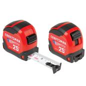 Measuring Tape - 1,25', x 25' - Red - Set of 2